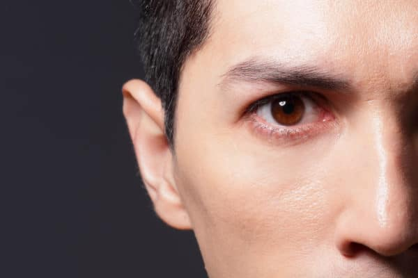 Close up of eyes from a young man, asian